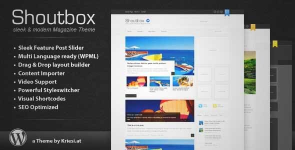 Download and review of Shoutbox Magazine, one of the best Themeforest Magazine & Blogs themes