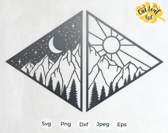 dxf DIGITAL FILES for Cricut CNC and other cut or print projects svg png Hiking Logo Hiking eps Mountain Hiking ai