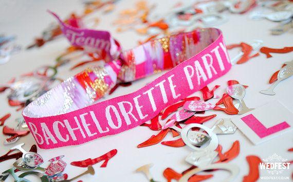 Bachelorette Party Wristbands by MartyMcColgan on Etsy