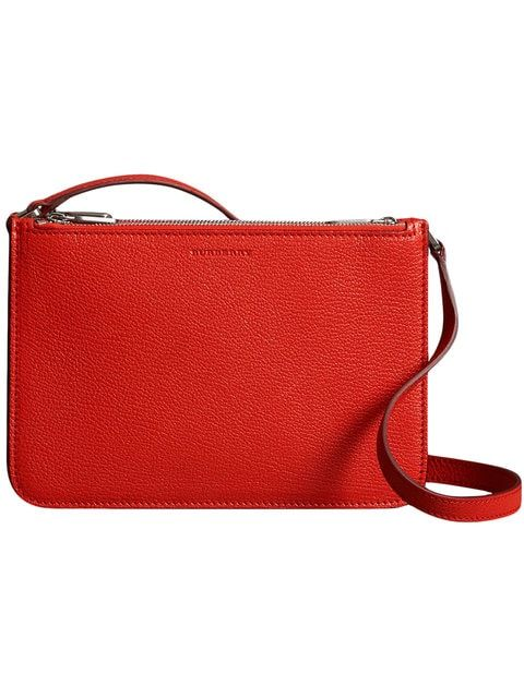 ca1a76ebaa8f Shop Burberry Triple Zip Grainy Leather Crossbody Bag