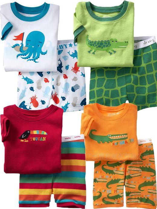 New Gap Baby Boy Pyjamas Cute Designs Shorts Sleeved Size At 1.2.3.4.5.6.7 | eBay
