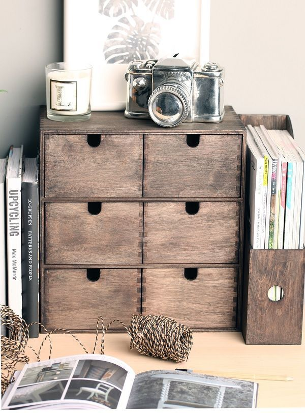 Ikea Hack Stylish Desk Storage With Rust Oleum Heart Home Desk Storage Stylish Desk Wooden Desk Organizer