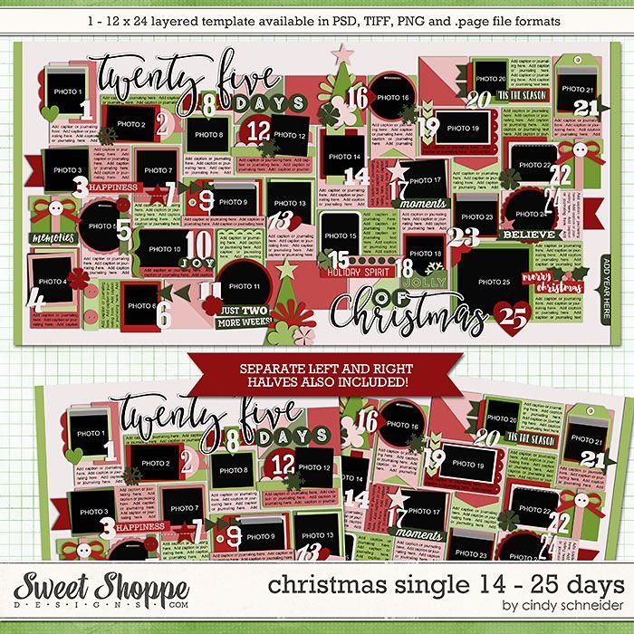 Cindy's Templates - Christmas Single 14: 25 Days by Cindy Schneider