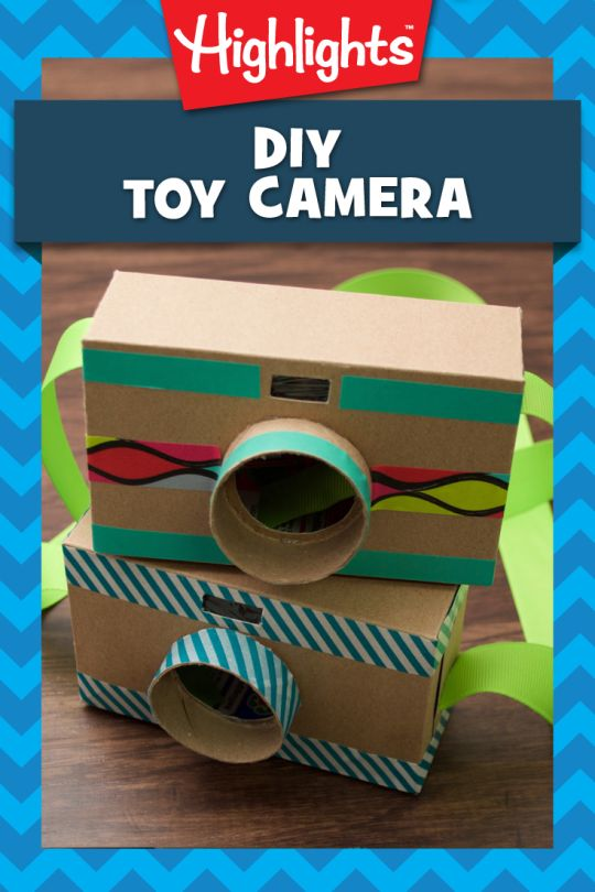 Calling all shutterbugs! This adorable camera is perfect for little ones who want to take photos but aren't ready to handle the real thing. Make this craft together, and then talk about what to photograph. Friends and family, or a rare animal? Or maybe an image of their imaginary friend. Whatever the scenario, this toy camera will spark lots of engaging conversations and creative play.