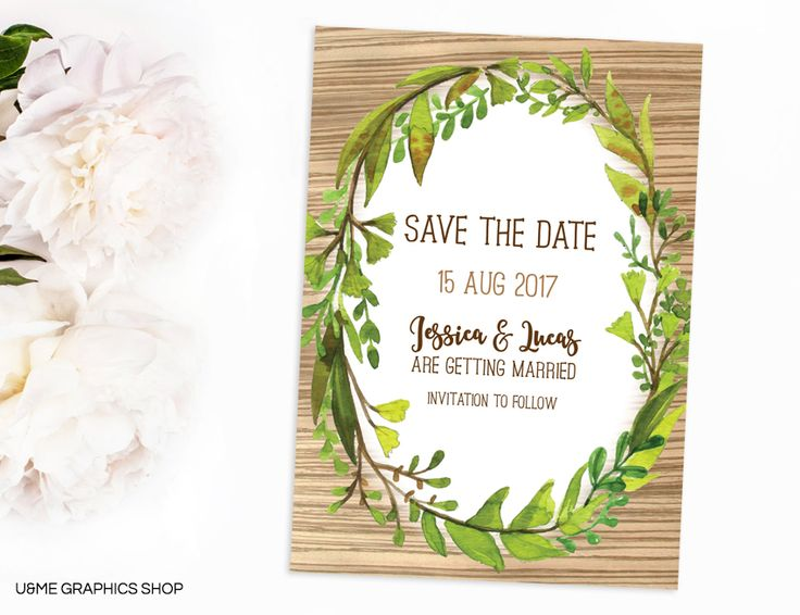 Rustic Save The Date / U&Me Graphics