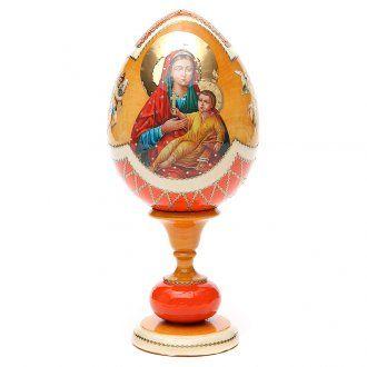 Russian Egg Kozelshanskaya découpage, Fabergè style 20cm   online sales on…