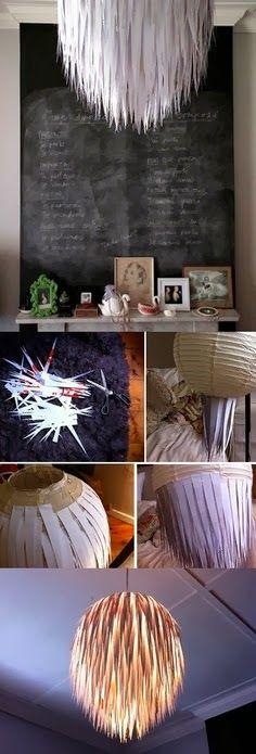 DIY Paper Chandeleir diy crafts craft ideas easy crafts diy ideas diy idea diy home easy diy for the home crafty decor home ideas diy decorations diy lamp