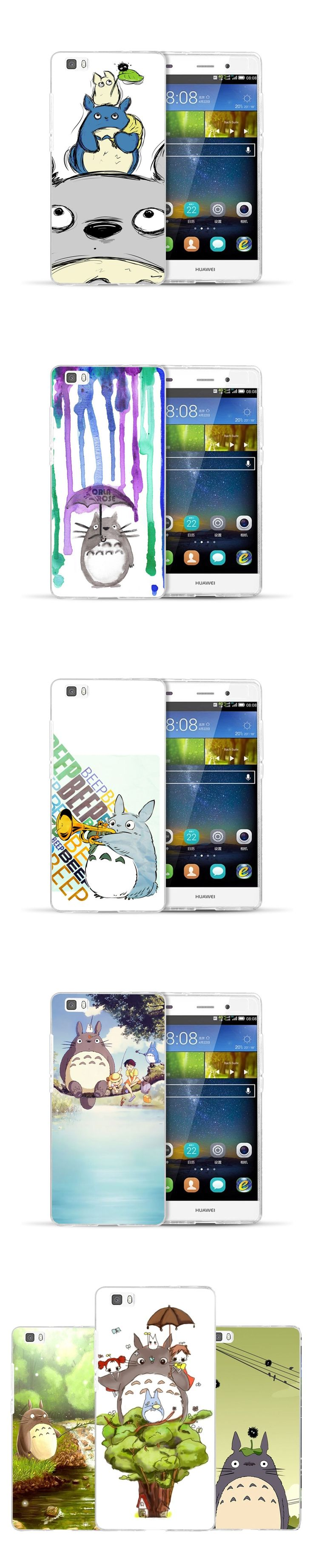 For coque Huawei P9 lite case Cute totoro hard PC cover for fundas Huawei P8 lite case new arrivals for Huawei P9 lite P8 lite