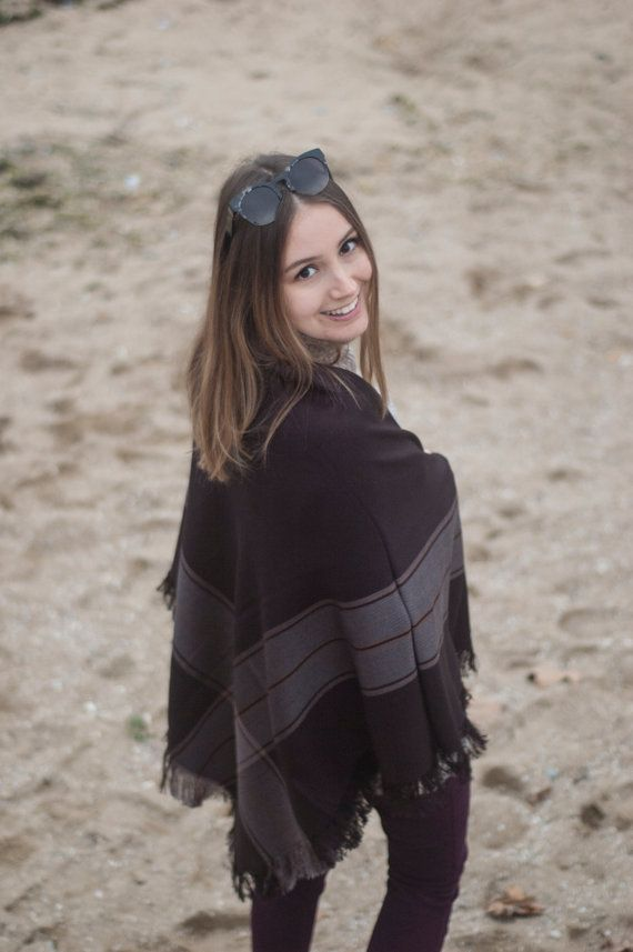 EXPRESS SHIPPING for 2 Scarves Black Blanket Scarf Plaid by Urbe