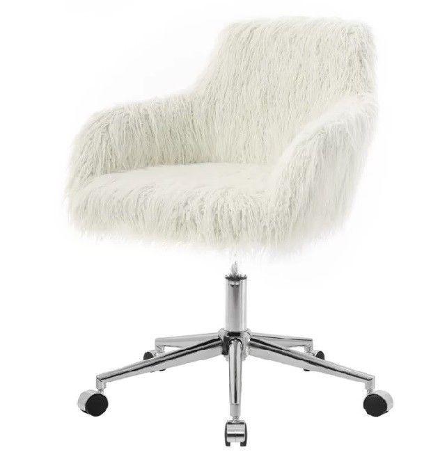Groovy Fur Desk Chair Vanity Accent Office Computer With Wheels Inzonedesignstudio Interior Chair Design Inzonedesignstudiocom