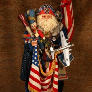 Santa: Belsnickles Santas, Vintage Christmas, Vintage Santas, Father Christmas, America, Patriotic Santas, Santas Dolls, Dolls Santas
