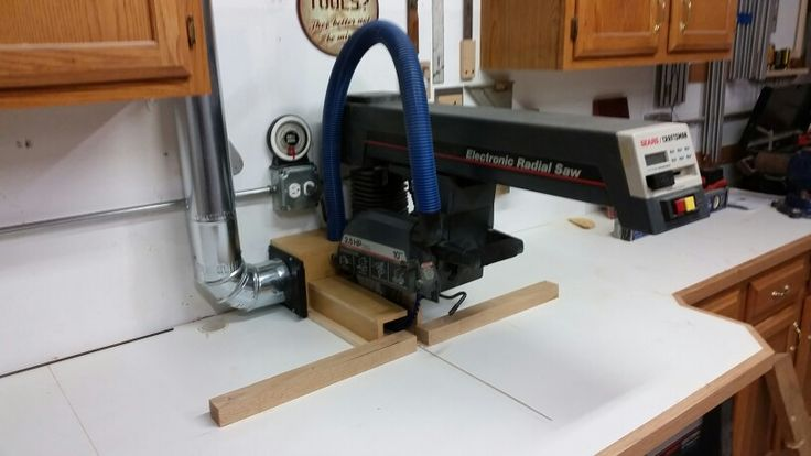 Radial Arm Saw Dust Collection Woodwoorking Pinterest