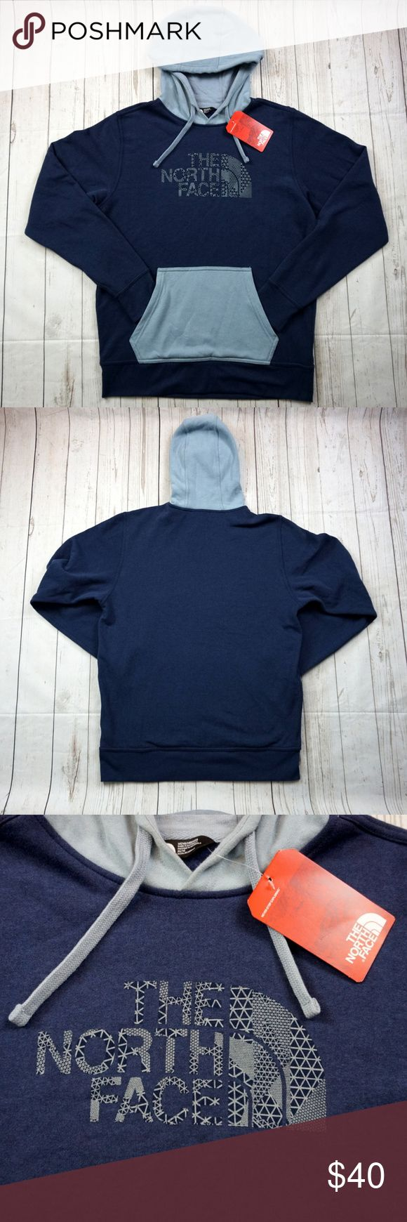 "North Face Sweatshirt Navy Blue, Grey XL, Hoodie North Face Sweatshirt Navy Blue, Grey XL, Hoodie  Brand: The North Face Size: Men's Medium Material: Cotton, Polyester  Detailed Measurements: (Front Side of Garment has been measured laying flat on a table)  Measurements  Sleeves:    		 27.5"" inches  Chest:		         22"" inches Length:      		 29.5"" inches  Ships in 1 business day or less from a clean and smoke free environment. Bundle to Save!  Thanks! The North Face Shirts Sweatshirts…"