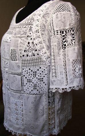 Mozaic Creative tricotate / croșetat / cârlig de îmbrăcăminte pentru femei. Schema.