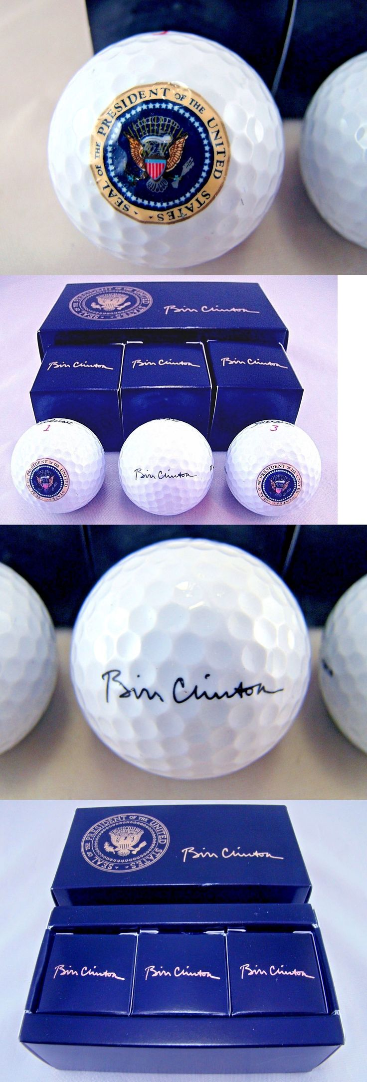 Bill Clinton: Genuine 3 Pack President Bill Clinton Presidential Seal White House Golf Balls -> BUY IT NOW ONLY: $375 on eBay!