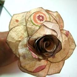 how to make a paper rose