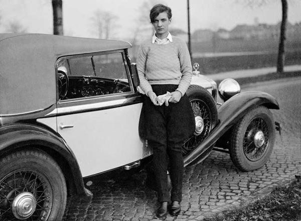 Annemarie Schwarzenbach and her Mercedes, Berlin, 1932. Photo by Marianne Breslaer.