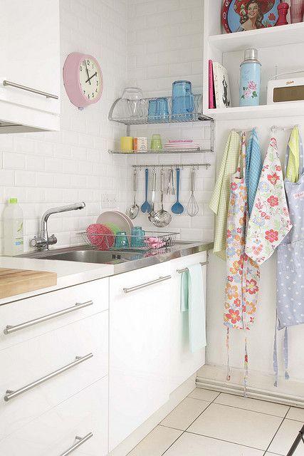 sweet pastel kitchen