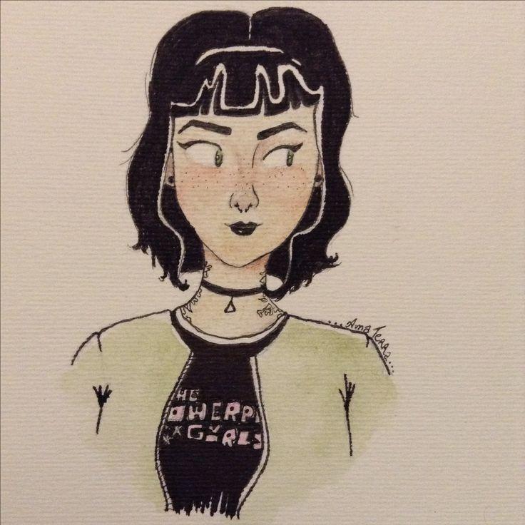 Docinho   Siga o Instagram @ana_vida_terra para mais desenhos   {meninas super poderosas} #buttercup #thepowerpuffgirls #asmeninassuperpoderosas #docinho #docinhomeninasupepoderosa #art #arte #aquarela #lapisaquarelavel #design #thepowerpuffgirlsfanart #tumblrdesign #tumblr #fanart #asmeninassuperpoderosas #nanquim #debujos #draw #desenho #ilustracao #ilustration #artistc #minimalista