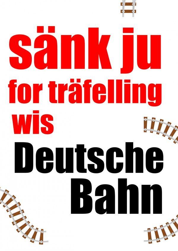 Sänk ju Deutsche Bahn | Humor | Echte Postkarten online versenden…