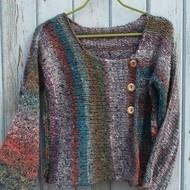 Beautiful NORO Silk and Wool Cardigan Sweater