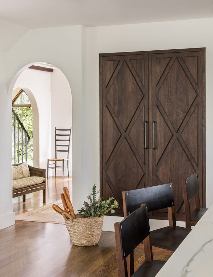 Cabinet doors in walnut | Jute Home Designer | Dream Home: Spanish Modern in Hillsborough Becki Owens blog