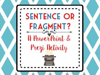 Do textbooks and web sites provide examples of sentence fragments?  Yes. Are they examples of the mistakes our students actually make in their writing?  Not usually.  This product is available as either a PowerPoint or a Prezi.  You will get both files with your purchase.