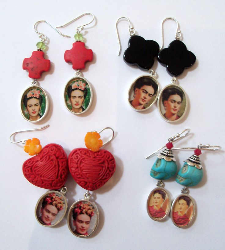Frida Kahlo an icon in Fashion and Art. Jewellery made my Linda Cameron- Dow vibrant and eye- catching
