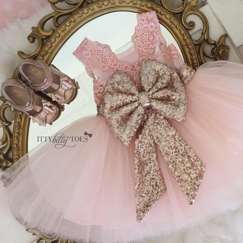 Princess Aisha Dress (Rose Gold) - Itty Bitty Toes  - 7