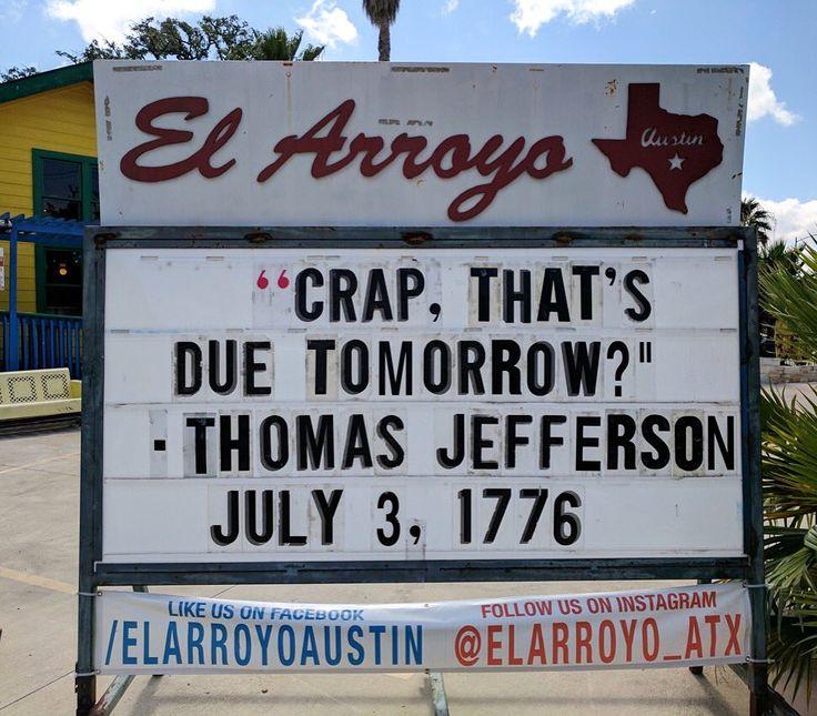 Little known fact about Thomas Jefferson he was a massive procrastinator.