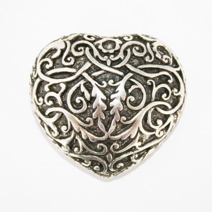 Umjubelt Gürtelschnalle - African heart silber -