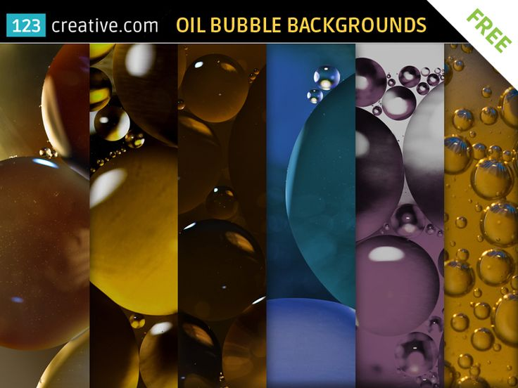 ► FREE Bubble backgrounds - high resolution abstract textures - oil bubble textures, abstract bubble backgrounds for graphic design and printing. All textures are high resolution ready for your next graphic project - Download here: http://www.123creative.com/graphic-design-resources-freebies/1212-free-bubble-textures-high-resolution.html