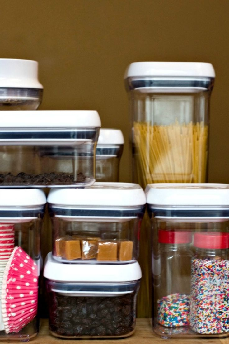 organizing my kitchen with oxo pop containers