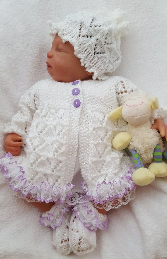 Baby Girls Knitting Pattern Download PDF door PreciousNewbornKnits