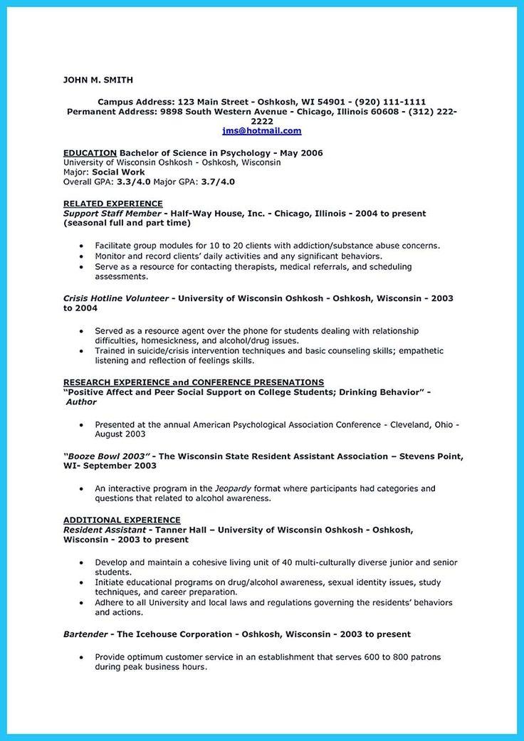 resume format in australia