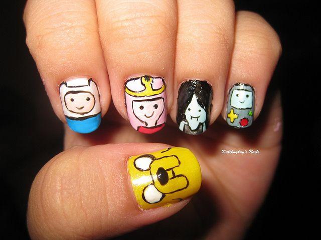 easy cartoon nail art | nail art design adventure time | Flickr - Photo  Sharing! - Best 25+ Cartoon Nail Designs Ideas Only On Pinterest Nail Art