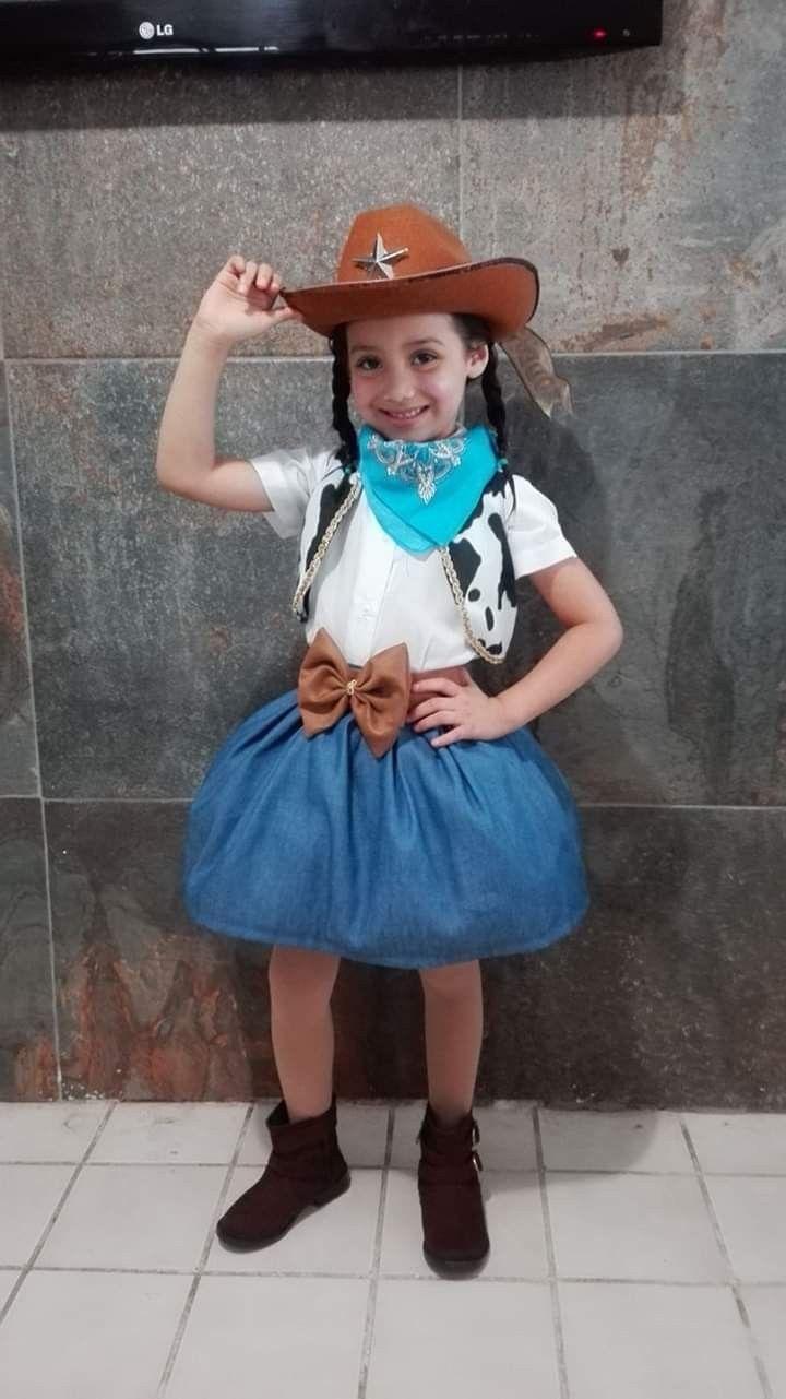 d8dfe1a34 Disfraz de Vaquera niña | oeste en 2019 | Disfraz de vaquera ...