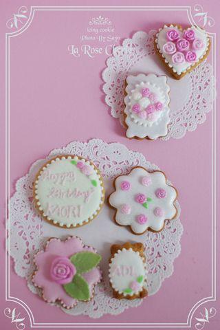 デコレーション教室 La Rose Cherie(ラ・ローズ・シェリー) -Rose アイシングクッキー 薔薇づくし♪