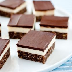 Nanaimo Bars - a simple, deliciously chocolaty, Canadian no bake dessert. Completely divine!