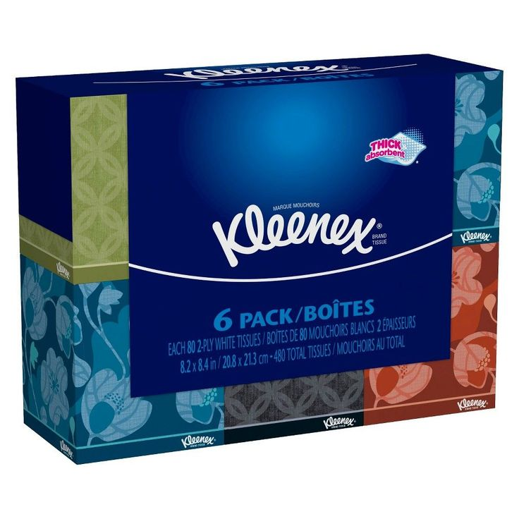 Kleenex Everyday Facial Tissue 80 Count, 6 Pack