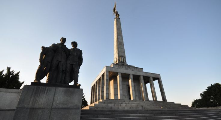 Soviet soldiers - monument Slavín in Bratislava
