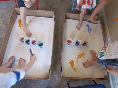 Dr. Seuss' The Foot Book...kids paint their own feet!