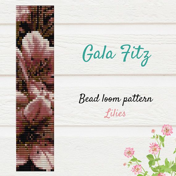 Pink lilies bead loom pattern will be the great idea to make some festive bracelet for you or as a gift. The item is a PATTERN in PDF format. The file will be directly downloadable through Etsy. You will see a Ready to download button on their Purchases and Receipt page, after payment