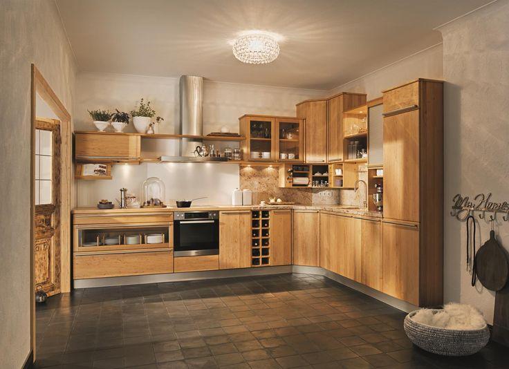 Küche Rondo Holz: Buche Natur Geölt