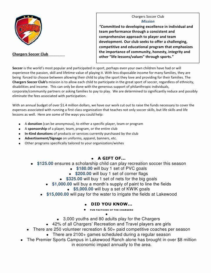 Sports Team Sponsorship Proposal Template Fresh Sponsor And