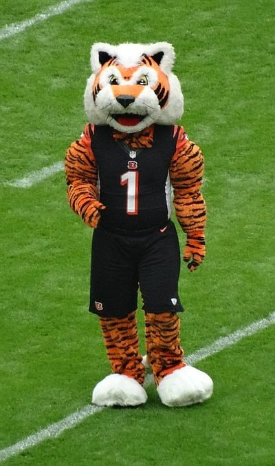 Who Dey! Cincinnati Bengals mascot at Wembley stadium during the 2016 NFL London game.