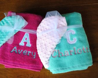 Embroidered/Personalized Hooded Bath Towel - Chevron Initial and name - Edit Listing - Etsy