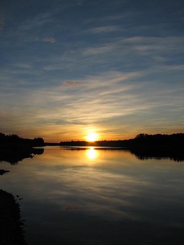 Midnight sun, Rovaniemi, Finland.