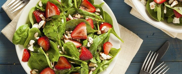 A tester: Salade épinards, fraises, balsamique