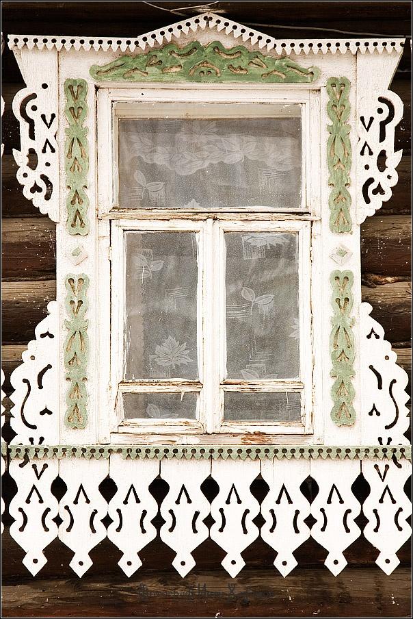 Russian wooden art, classic window.
